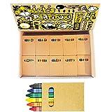 100 Sets di Pastelli a Cera Colorate Bambini Partituki. 6 Crayons per Scatola. 600 Matite in Totale. Ideale per Scolastiche e Regalini Fine Festa Compleanno