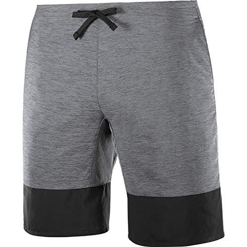 Salomon XA Training SHORT M, Pantaloncini per Trail Running Elasticizzati in 2 Direzioni e con Tessuto ad Asciugatura Rapida, Uomo, Grigio (Ebony), M