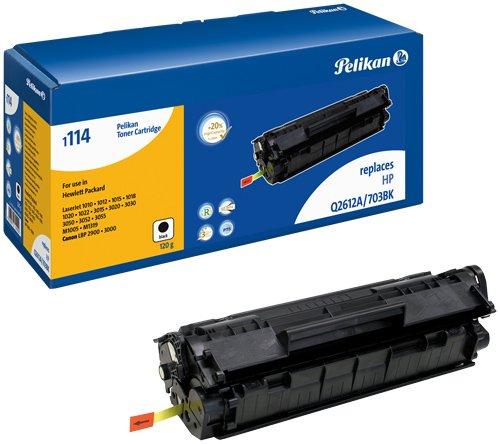 Pelikan 624222 Q2612 LJ, Tóner de Láser para Impresoras HP