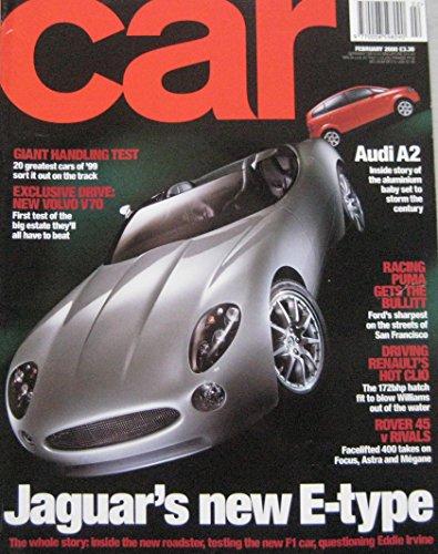 CAR magazine 02/2000 featuring Ford Racing Puma, Renault Clio 172, Jaguar...