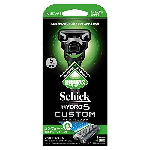 シック Schick ハイドロ5カスタム コンフォート ホルダー 替刃1コ付 (替刃1コは本体に装着済み)