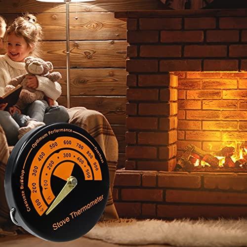 FUFRE Termómetro magnético de horno para todas las barbacoas, ahumadores, hornos y carros, analógico, accesorios de barbacoa