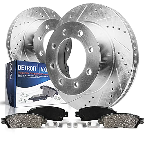 Detroit Axle - 4WD Models FRONT Drilled Slotted...
