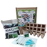 KULTIVERI - Set di piante da coltivazione da 35 pezzi, composto da vasi e semi di germinaz...