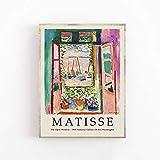 Póster de exposición de Henri Matisse-ventanas abiertas-arte de pared decoración familiar pintura de lienzo sin marco Q-41 40x50cm