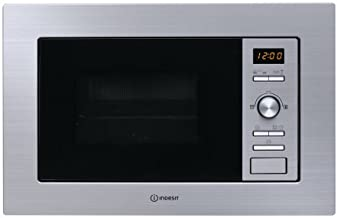 Indesit MWI 122.2 X Integrado - Microondas (Integrado, Microondas con grill, 20 L, 800 W, Botones, Giratorio, Acero inoxidable)