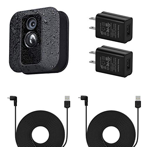 2Pack Power Adapter with 30 ft/9 m Weatherproof Cable for Blink XT / XT2 & All-New Blink Outdoor Indoor Camera, Continuously Charging Your Blink Camera, No More Battery Changes