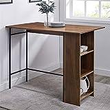 """Walker Edison AZW48LNDLDW Drop Leaf Counter Height Table with Storage, 48"""", Dark Walnut"""