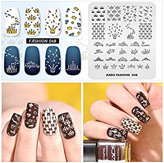 Nail Stamping Plate Fashion Crown Rich Luxury King Queen Theme Multi-Pattern Stamp Print Image Stamp Template Nail Art for Nail Design By Rolabling