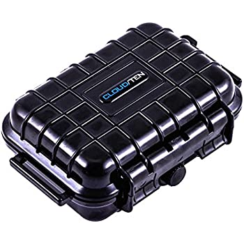 Stash Box CLOUD/TEN Mini Smell Proof and Waterproof 5 inch Odor Resistant Case Airtight Dry Box Storage - Includes Case Only