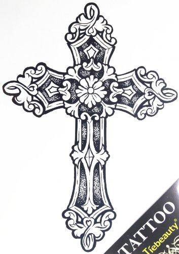 Spestyle nouveau design vente chaude à la mode de grandes tatouages temporaires de la Croix pour les hommes