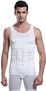 Ada Men's Slimming Body Shaper Vest Shirt Abs Abdomen Slim Stretchable Tummy Tucker Vest