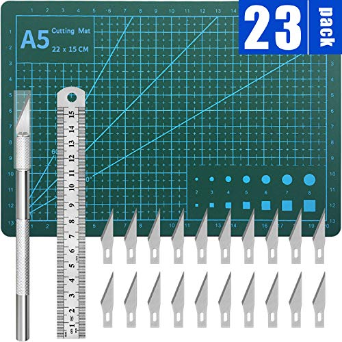 DIYSELF Exacto Knife Upgrade Cutting Mat Carving Craft Knife Hobby Knife Exacto Knife Kit