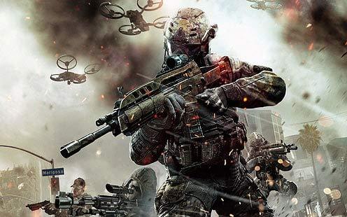 Poster World Póster de Call Of Duty Black Ops Call Of Duty con rifles de videojuegos, acabado mate, 30,5 x 45,7 cm, multicolor