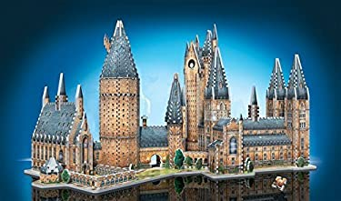 Wrebbit 3D - Harry Potter Hogwarts Castle 3D Jigsaw Puzzle, Great Hall and Astronomy Tower - Bundle of 2 - Total of 1725 Pieces