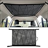GZSH Car SUV Roof Ceiling Cargo Overhead Storage Net Pocket 35.5'x25.6' Tent Gear Sundries Organizer Holder Pouch Bag Vehicle Van Trunk Travel Long Road Trip Camping Essentials Interior Accessories