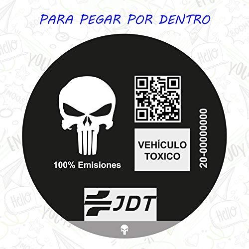 CUAC REVOLUTION Vinilo Adhesivo Pegatina Sticker Distintivo Ambiental Coche VEHICULO TOXICO JDT...