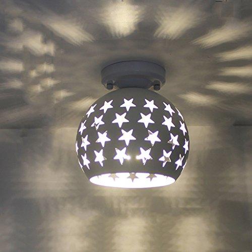NAUY- American Village Plafonnier Nordic European Corridor Entrée Hall d'entrée Vestiaire Balcon Study Chambre Lampes en fer forgé ( Couleur : Blanc )