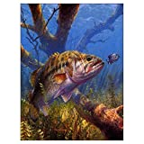 unfinished resin - LIPHISFUN Diamond Painting Kits for Adults Full Drill Square Resin Rhinestone Embroidery Unfinished Cross Stitch Home Decor Gift Fish(30x40cm)