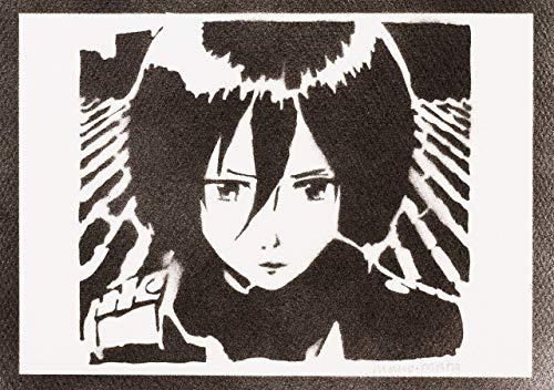 Attack On Titan Poster Mikasa Ackerman Shingeki No Kyojin Plakat Handmade Graffiti Street Art - Artwork