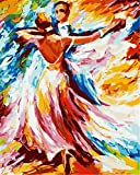 N\A Pinturas con Numeros para Adultos Acrilico Pintura Kit Kit De Pintura Niños Pintura por Número De Kit DIY Regalos Amor Baile De Vals with Frame