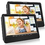 WONNIE 2021 Modelle 10. 5' DVD Player Auto 2 Bildschirme Tragbare DVD Player 4 Stunden Spielzeit mal 1024 * 600 HD Kopfstütze Fernseher, Unterstützung für USB/SD, AV IN/Out
