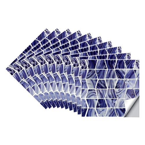 Cabilock 1 Juego de Pegatinas de Pared de Azulejos de Rayas Autoadhesivas Peel and Stick Backsplash Azulejo Calcomanía Fondos de Pantalla de Baño para Manualidades DIY Decoración de La