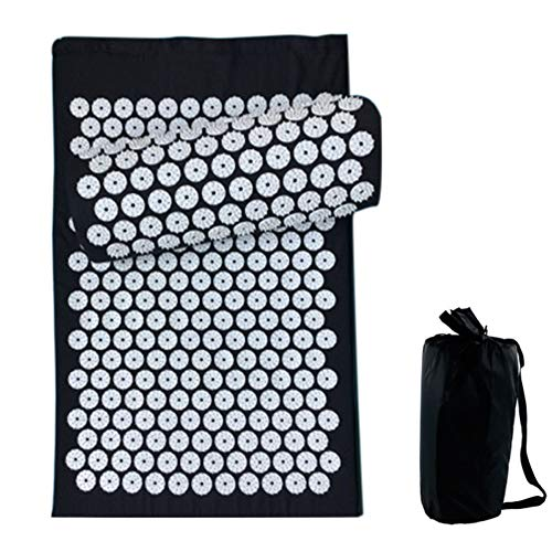 Jacqu Lotus Acupucture Mat Pad Set Acupressure Massage Cushion Pillow for Home Yoga