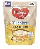 Milupa Milchbrei Milde Früchte Guten Morgen ab dem 6. Monat, 4er Pack (4 x 400 g)