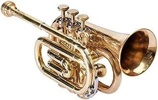 Best Quality BB Pitch bolsillos de trompeta con estuche y boquilla, Goldenes latón patrón de Nasir Ali
