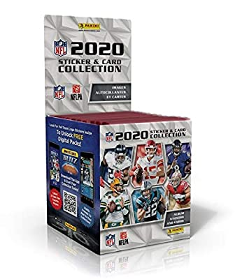 2020 Panini NFL Football Sticker Collection box (50 pks = 250 stickers & 50 trading cards/bx)