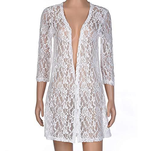 Damesjas, lace doorschijnende sexy tops, rook, dames, lange mouwen, ademend, comfortabel, prachtig design, kleding blouse, tops