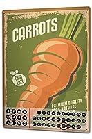 カレンダー Perpetual Calendar Food Restaurant carrots Tin Metal Magnetic