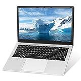 Sistema operativo Windows 10 Pro, ordenador portátil de 15,6 pulgadas, procesador Intel J3455 Quad Core, 8 GB de RAM, 128 GB SSD, Full HD 1920 x 1080, reuniones en línea y negocios, U5.