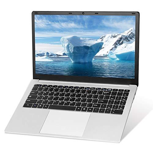 Windows 10 Pro Betriebssystem, 15,6 Zoll Laptop Notebook Computer PC, Intel J3455 Quad Core CPU, 8 GB RAM, 128 GB SSD, Full HD 1920 x 1080, Online-Meetings und Business, U5