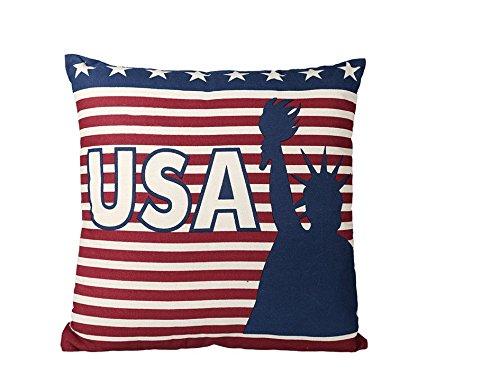 Preis am Stiel Cojín Stars & Stripes USA con cremallera | Cojín de sofá | Cojín decorativo | Cojín de peluche | Regalo para novia | Cojín decorativo | Decoración para salón