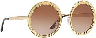 Dolce & Gabbana DG2179 Sunglasses Gold w/Brown Gradient Lens 54mm 0213 DG 2179