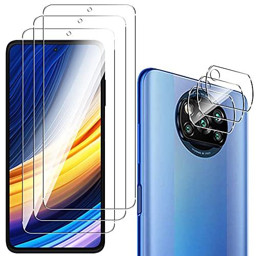 QULLOO Pellicola Protettiva per Xiaomi Poco X3 PRO/Poco X3 NFC + Pellicola Fotocamera [3 Pezzi], 9H Durezza HD Chiaro Pellicola Vetro Temperato per Xiaomi Poco X3 PRO/Poco X3 NFC
