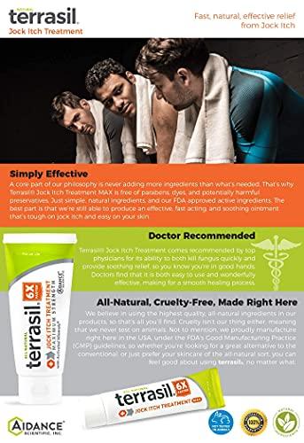 Jock Itch Treatment MAX - 6X Faster Than Leading Brands Natural Antifungal Ointment Treats Tinea Cruris...