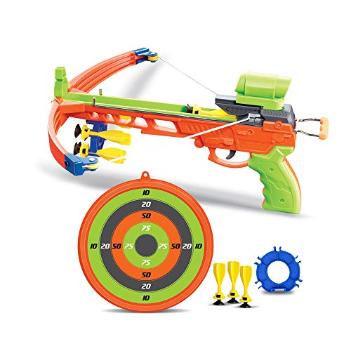 Crossbow Kids Archery Set | Toy Crossbow Set Includes Archery Target and Suction Darts | Best Crossbow for Indoor or Outdoor | Toy Bow and Arrow (Crossbow)