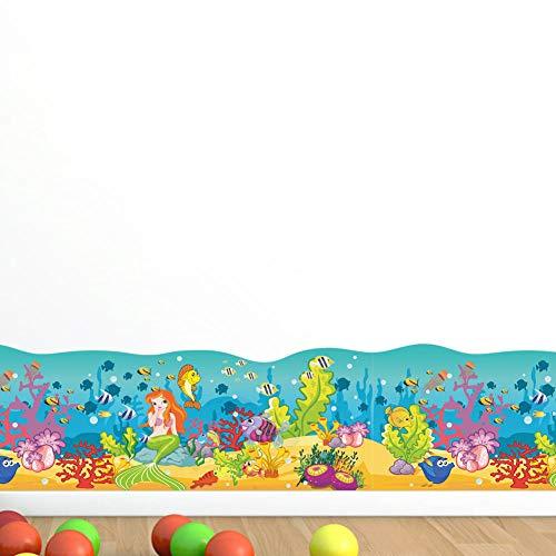 Terilizi Nieuwe Stijl Zeemeermin Onderwater Wereld Kinderkamer Slaapkamer Rokken Kleuterschool Milieu Decoratieve Muurstickers
