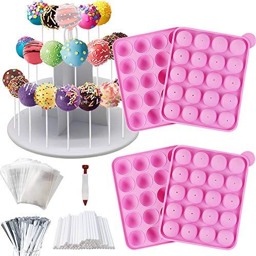 Cake Pop Maker Kit - Silicone Cake Pop Moulds, Lollipop Sticks, 3-Tier...