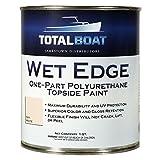 TotalBoat Wet Edge Marine Topside Paint for Boats, Fiberglass, and Wood (Off-White, Quart)