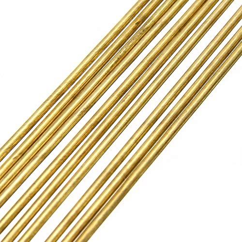 Gfpql WYanHua-Varilla de Soldadura Rodas de latón de 10 unids, para Reparar Soldadura Soldadura de Soldadura de Soldadura, Cables palitos 1.6x250mm de Oro, Soldador para soldar