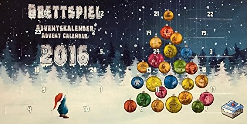 Frosted Games FRG00004 Kartenspiel Brettspiel-Adventskalender 2016
