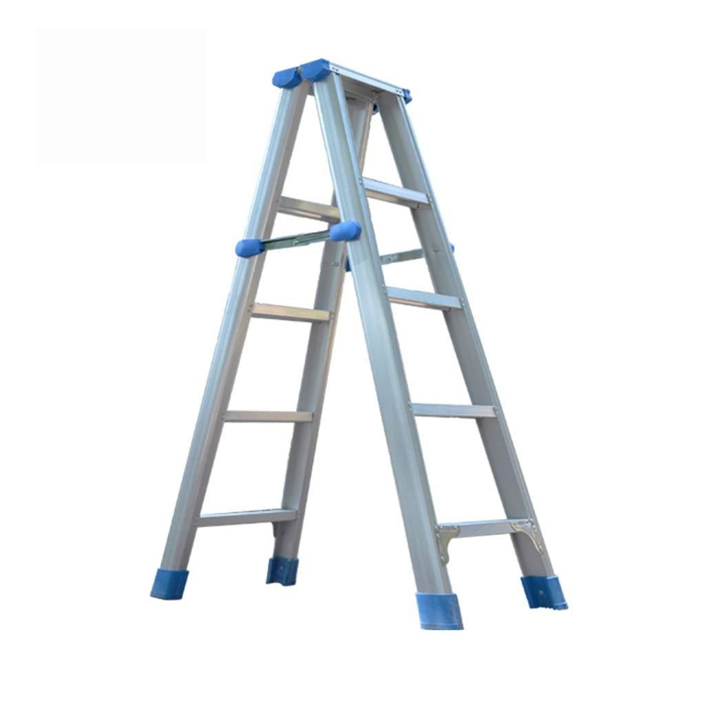 QFF escalera doble, escalera de escalera de aluminio de espesor escalera de cinco pasos for facilitar el supermercado escalera almacén sitio de construcción / / doblez (Size : 46 * 91 * 142cm): Amazon.es: Bricolaje y herramientas