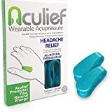 Aculief - Award Winning Natural Headache, Migraine, Tension Relief Wearable – Supporting Acupressure Relaxation, Stress Alleviation, Soothing Muscle Pain - Simple, Easy, Effective 2 Pack - (Teal)