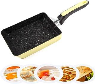 Cacerola Panqueques de Aluminio antiadherentes Huevo Frito Filete Frito sartén, Mango cómodo, Barbacoa Rectangular, Picnic Conveniente para Limpiar Wok Inducción