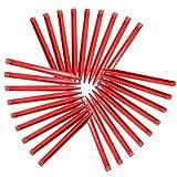 Yaheetech 30 Stück Heringe Zelthering Zeltnägel Zeltpflöcke 30 x 3,5 x 2 cm aus Kunststoff Rot