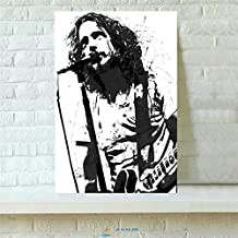 Artwu Chris Cornell Wall Art Home Wall Decorations for Bedroom Living Room Oil Paintings Canvas Prints-967 (Framed,12x18inch)